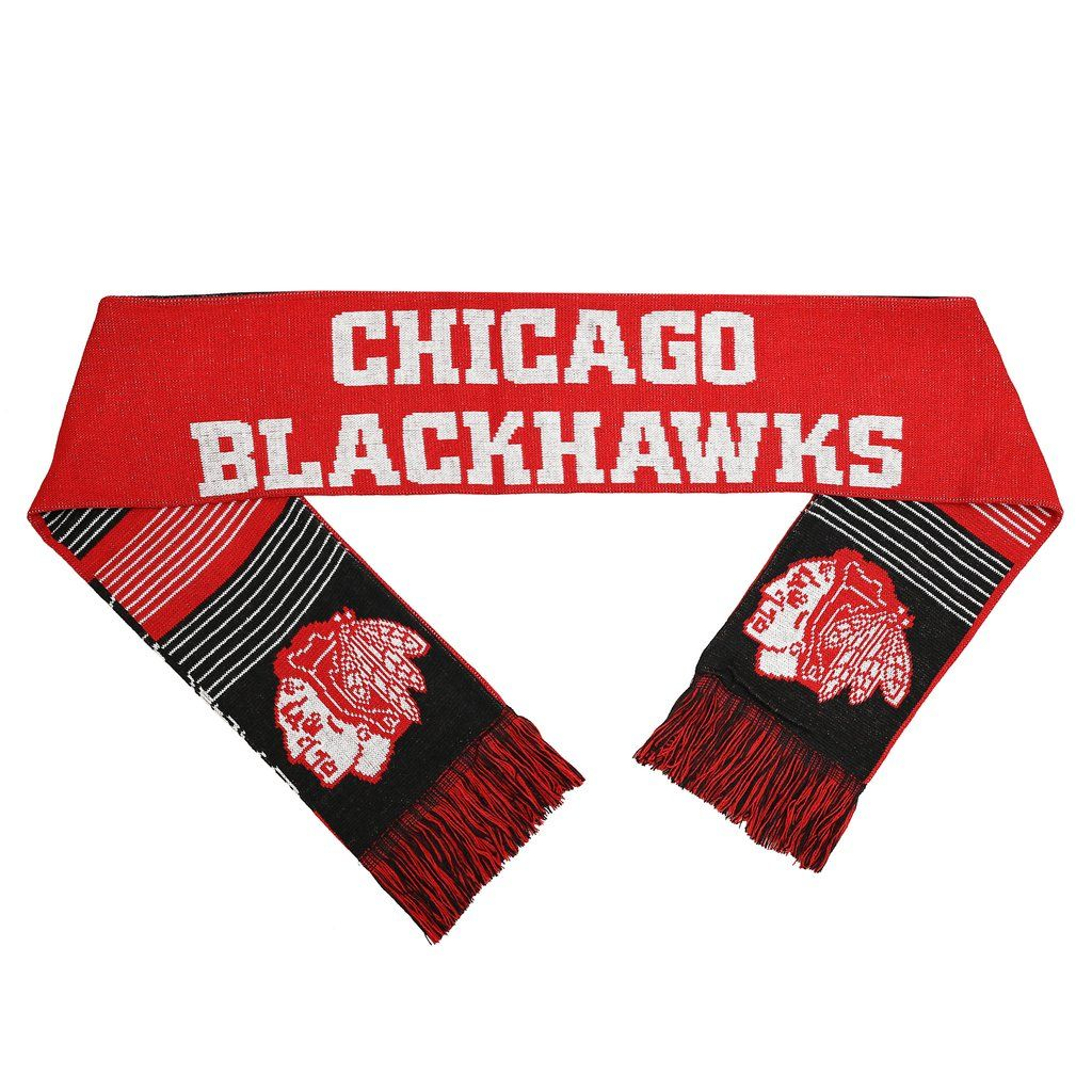 Chicago Blackhawks Split Logo Reverse Scarf - 2015