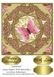 Splendour Large Topper With Butterfly 5