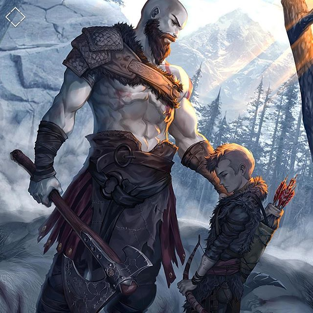Attreus: But he killed his father. He's not a good god ... |Kratos Npc Meme
