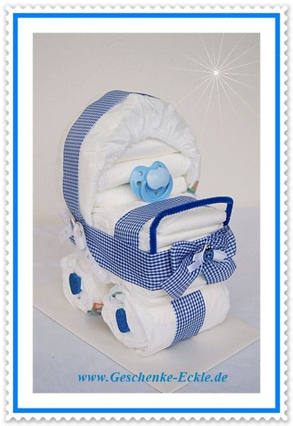 windeltorte kinderwagen mit schnuller von geschenke eckle auf diy baby raudz b m. Black Bedroom Furniture Sets. Home Design Ideas
