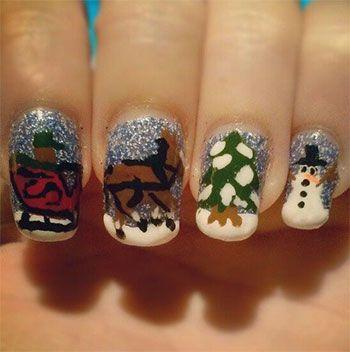 Cool Winter Nail Art Designs Ideas For Girls 20132014 Snowman