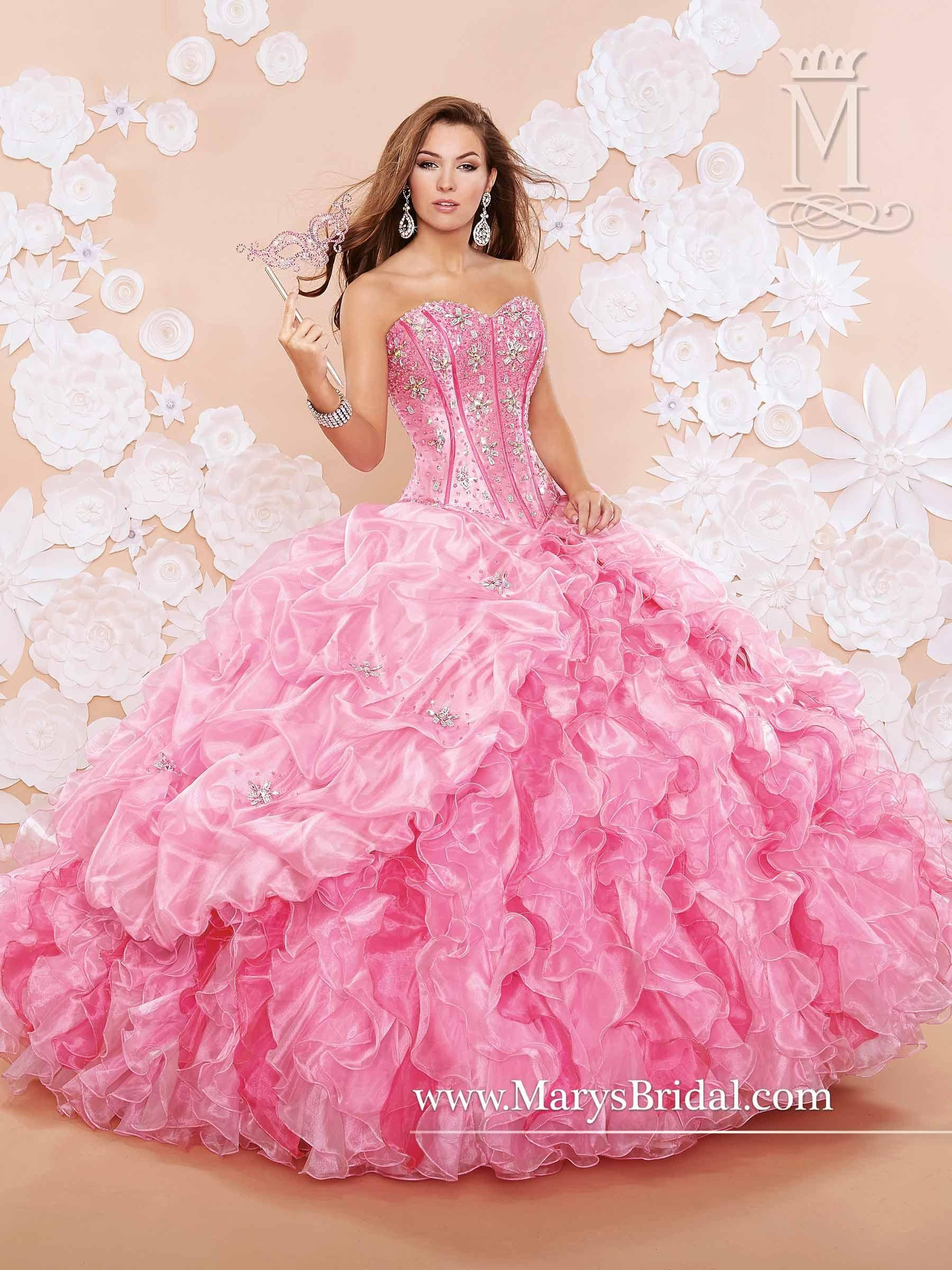 Two Pieces Mary\'s Quinceanera Dresses 2015 Fall Sweetheart Neck ...