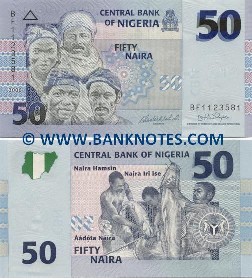 Nigeria 50 Naira 2006 Front