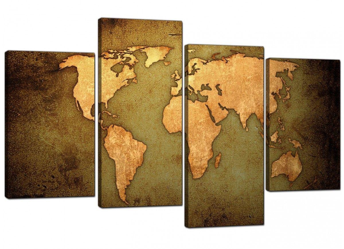 Large vintage world map canvas prints downstairs loo pinterest large vintage world map canvas prints gumiabroncs Images
