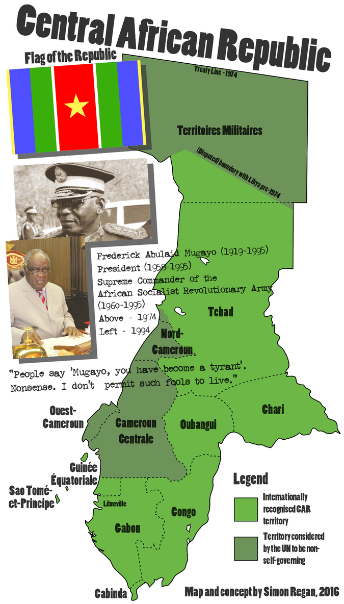Central African Republic By Sregan Alternate History Map Central African Republic