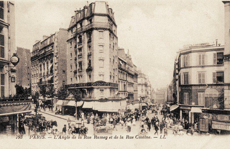 Les Anciennes Rues De Paris Rue Ramey 18 Me Arrondissement Vieux Paris Rue De Paris Paris