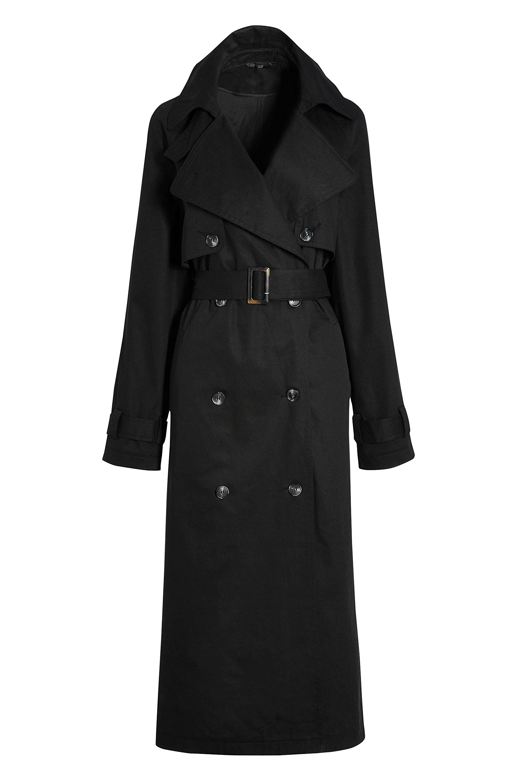 next Women Black Oversized Trench Jacket Top Petite Fit. next is ...