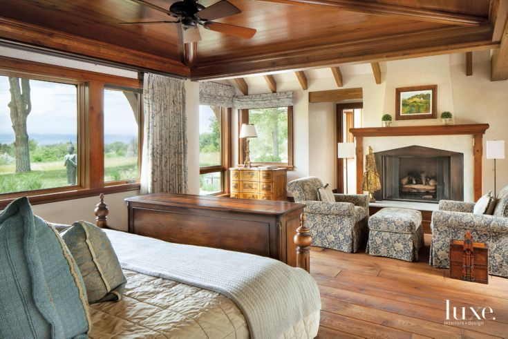 Elegant walnut ceiling in a mountain modern denver home