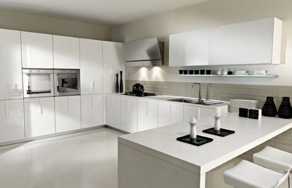 Best White Laminate Kitchen Cabinets Contemporary Kitchen 400 x 300