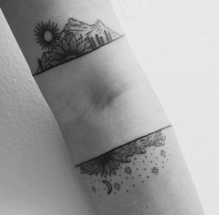 5857e451f right inner-elbow crease | Tattoo | Landscape tattoo, Small tattoos ...