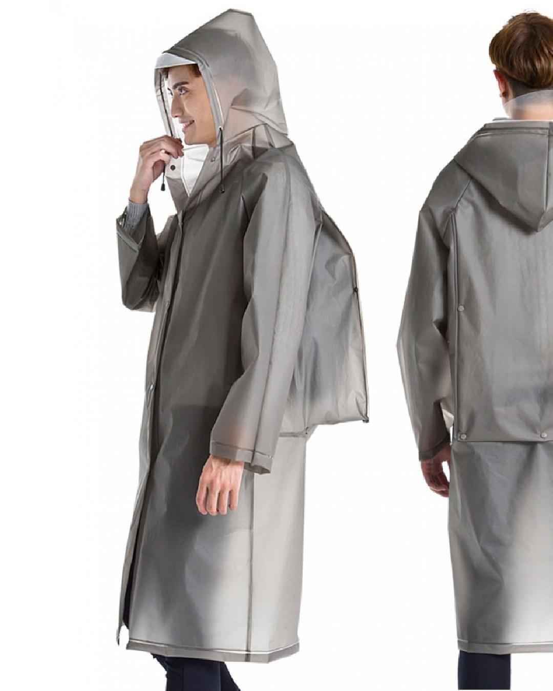 Clear Raincoat Coat Rainwear Hooded Waterproof Women Men transparent new Hot