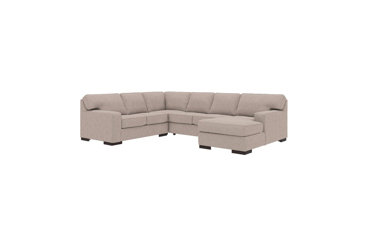 Best Ashlor Nuvella® 4 Piece Sectional With Chaise Ashley 400 x 300