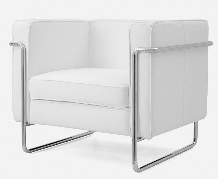 Sofá 1 de lugar Mary Pele White armchair, Bauhaus