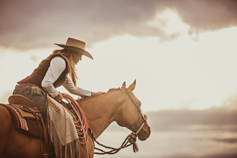 Cowgirl riding cowboy-4268