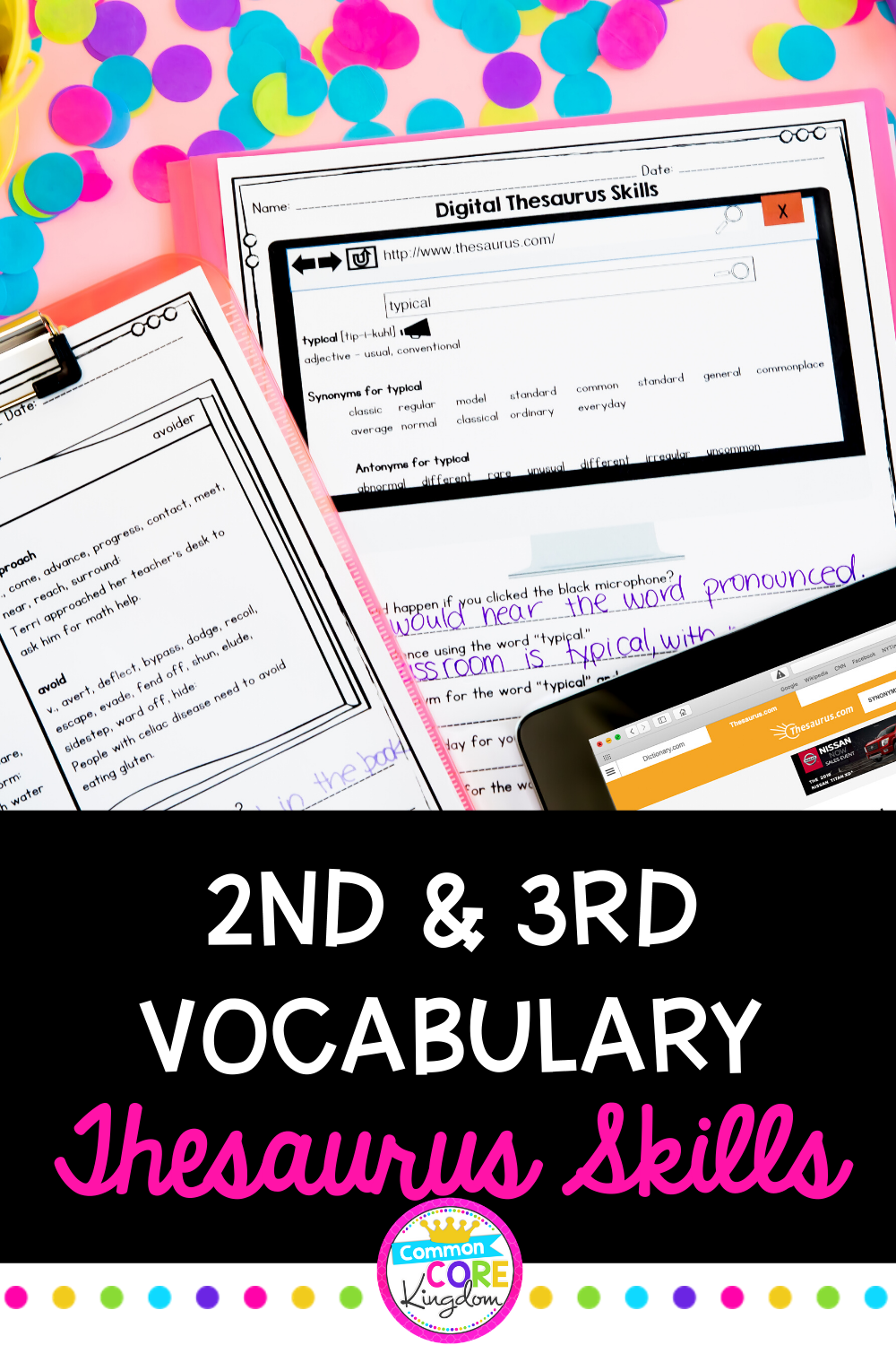 small resolution of Thesaurus Skills   Student dictionary template