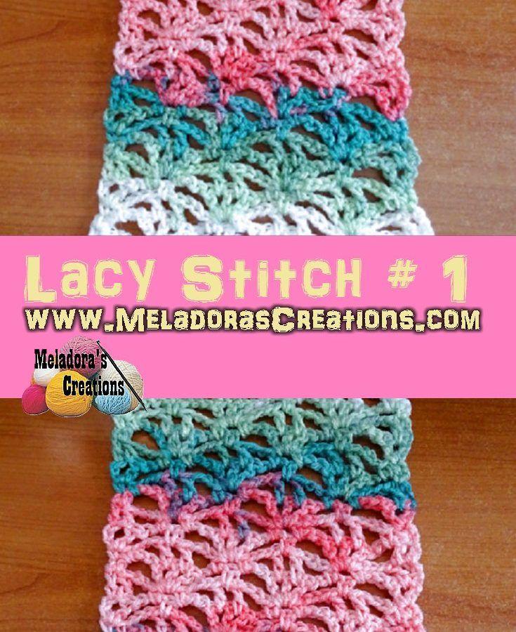 Lacy Stitch # 1 PINTEREST | Meladora\'s Crochet Patterns & Tutorials ...