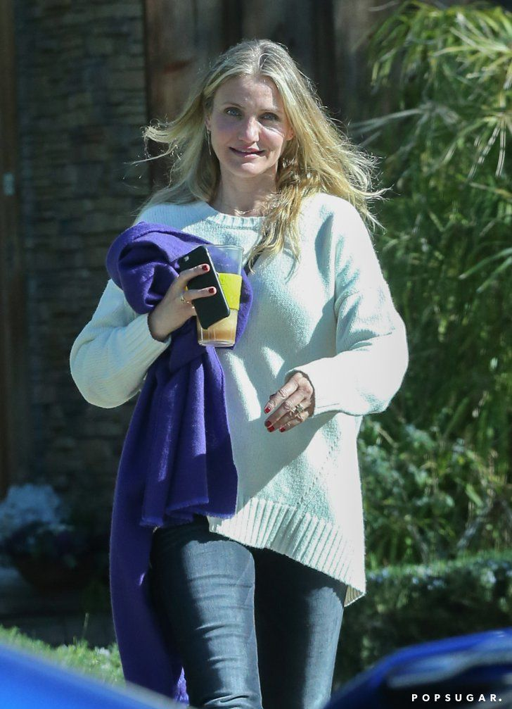 b96a403cec7 Pin for Later  Cameron Diaz Updates Her Engagement Ring With a Massive  Diamond Stunner