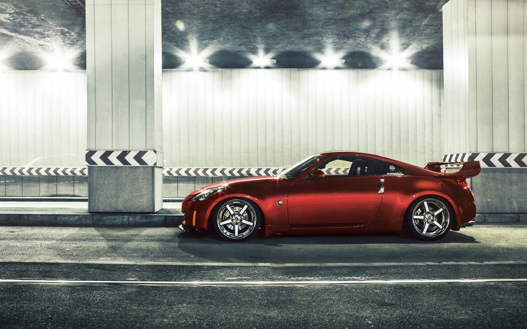 Nissan Z Tuning Car Street Hd Wallpaper