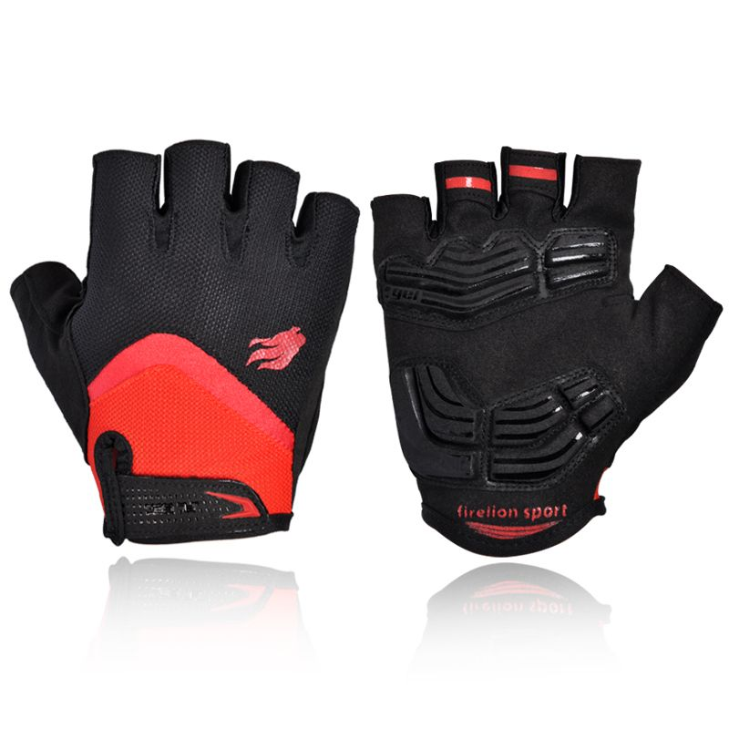 Mens Half Finger Cycling Gloves Road Bicycle Race Fingerless Sports Track Glove