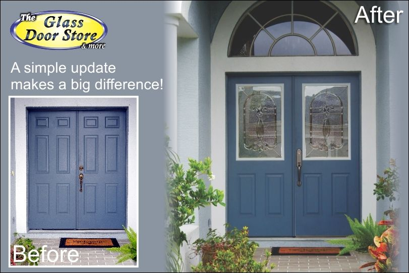 We Can Add Glass To Your Existing Metal Doors Metal Front Door Door Glass Inserts Metal Door