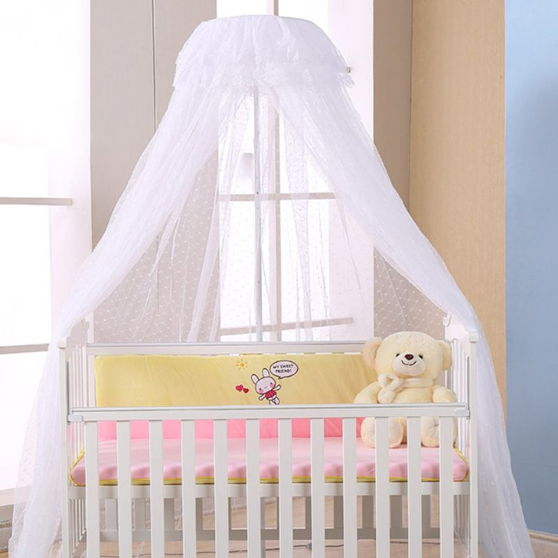 Home D Cor Idea Mosquito Net Baby Mosquito Net Infant Crib Netting Round Dome Bed Canopy Bedding Mosquito Net Holder Crib Netting Baby Bed Canopy Mosquito Net