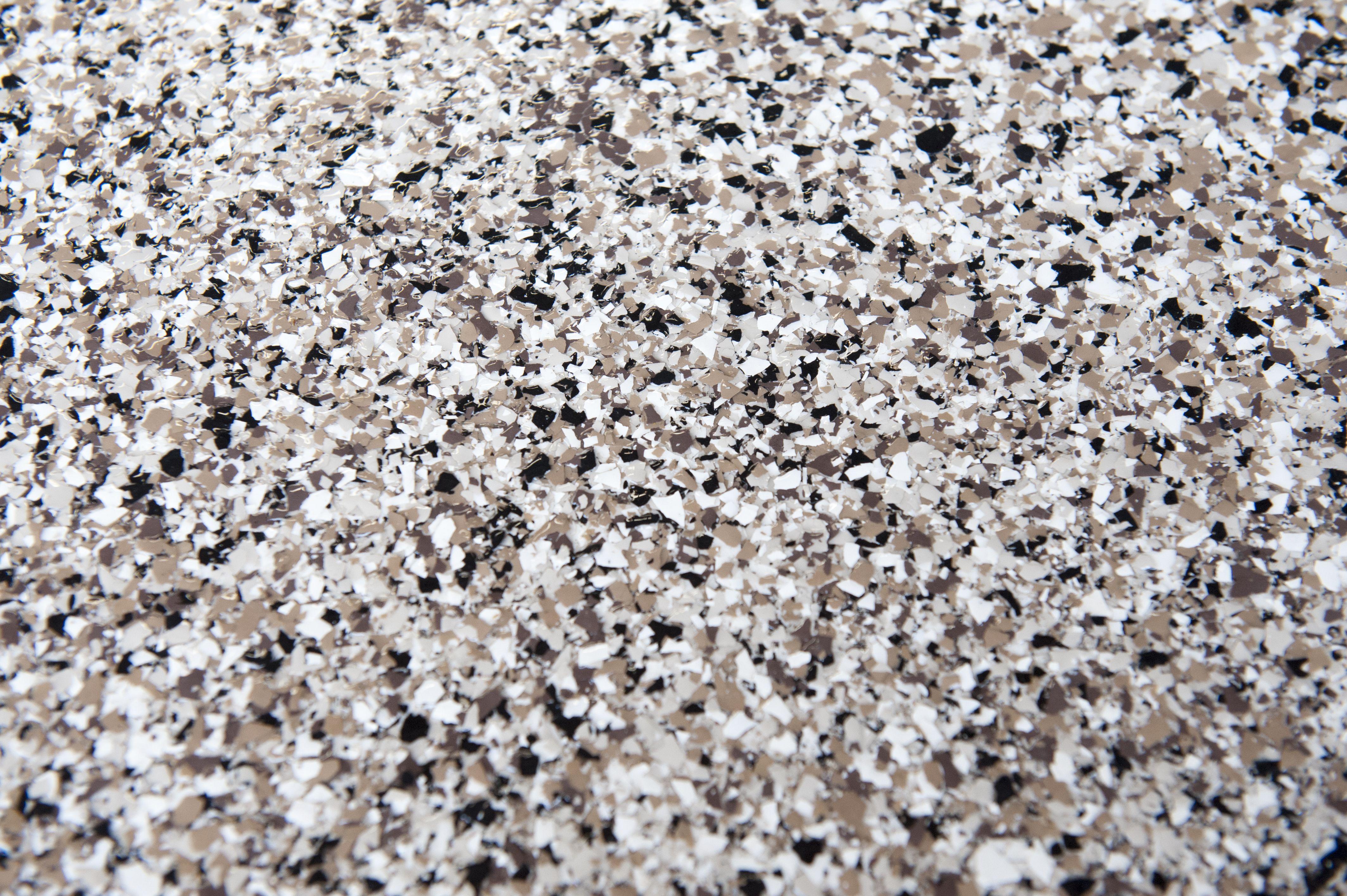 Epoxy garage floor river rock blend garage floor