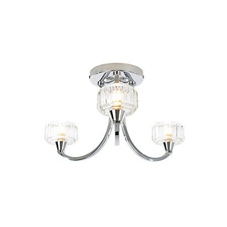 Orara Clear Chrome Effect 3 Lamp Bathroom Ceiling Light Departments Diy At B Q With Images Ceiling Lights Bathroom Ceiling Light Ceiling Lights Diy