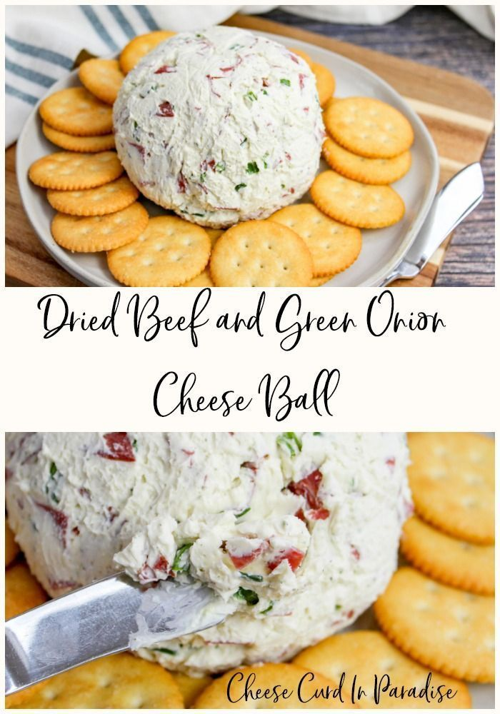 Dried Beef and Green Onion Cheese Ball A Traditional and Simple Cheese Ball Recipe Using Dried Beef