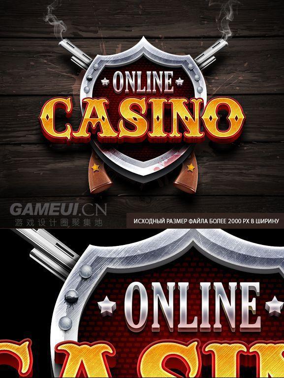 CASINO-英文游戏logo-GAMEUI.cn-游戏设计聚集地