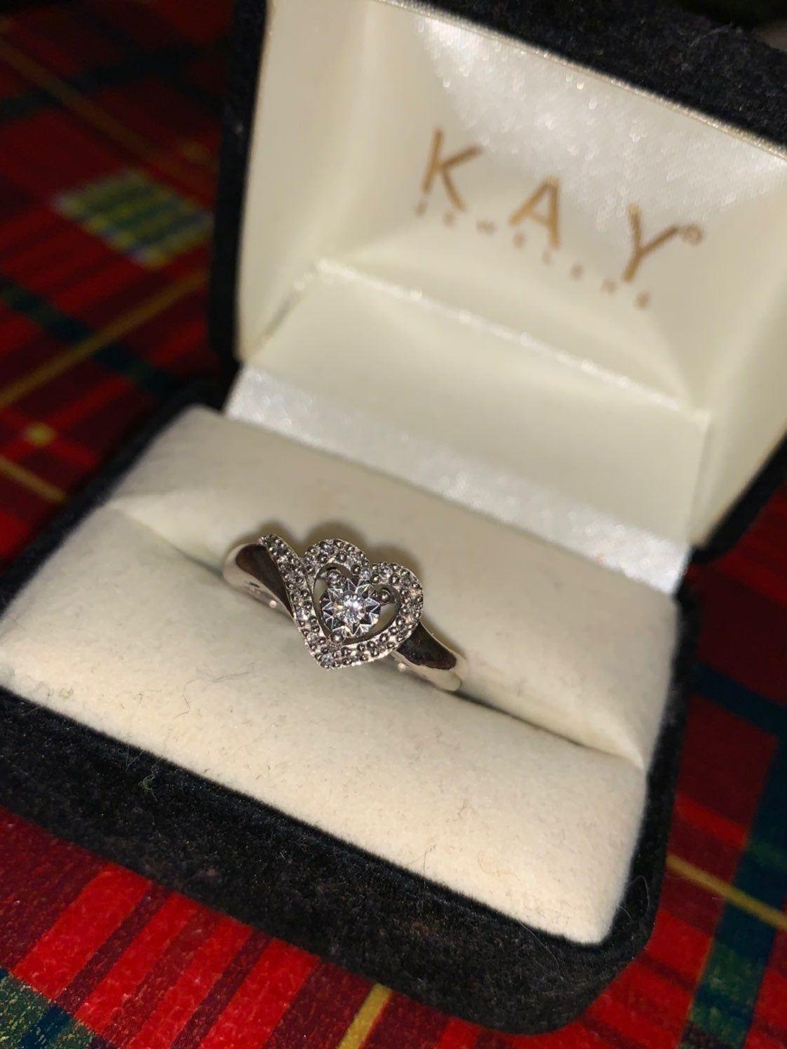 Heart Promise Ring Size 7 5 On Mercari Kay Jewelers Rings Heart Promise Rings Heart Shaped Diamond