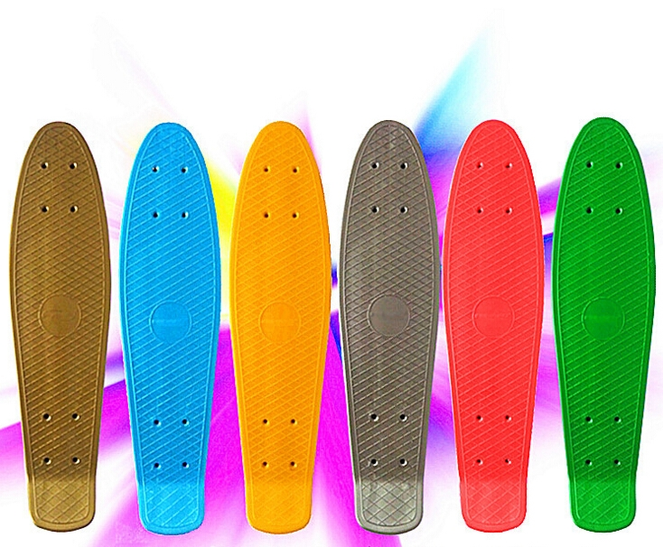 "26.25$  Watch more here - http://aiwbj.worlditems.win/all/product.php?id=32657855163 - ""74L-86 Freeshipping 56cm Children's skateboard Brush street edge 22"""" Highway skateboard fish plate Deck Single become warp plate"""