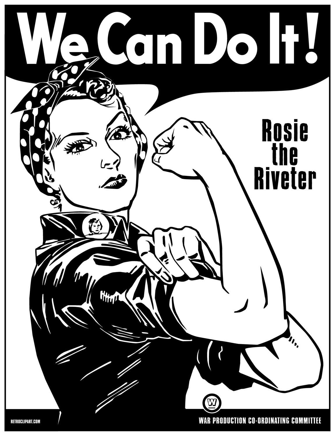 Rosie The Riveter Line Drawing Google Search Ilustraciones