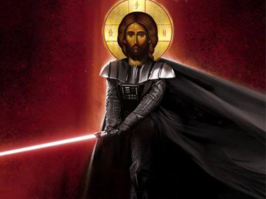 Immagine di http://politicaljesus.com/wp-content/uploads/2012/10/Darth-Jesus.jpg.