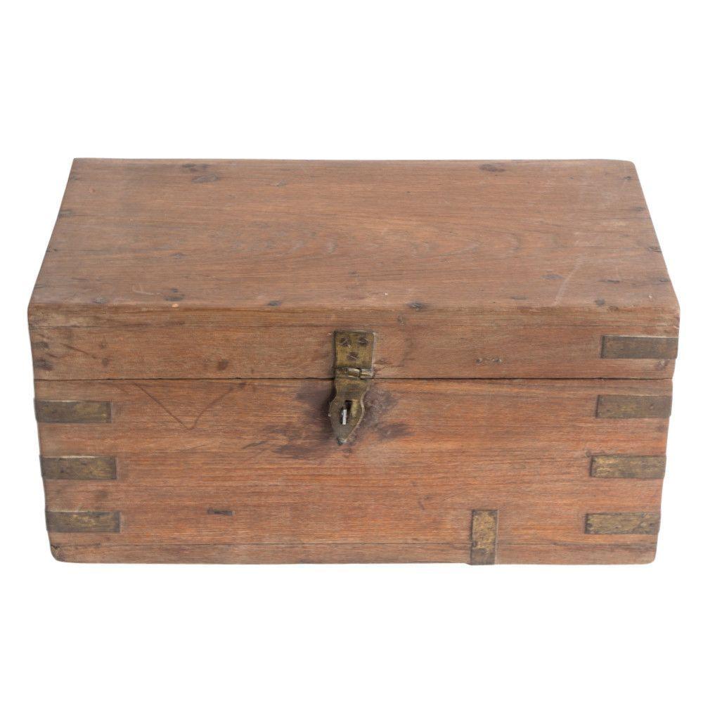 Anglo Indian Teak Cash Box