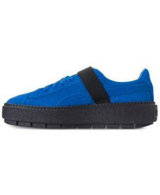 769c8b5c2ae0 Puma Women s Suede Platform Trace Buckle Casual Sneakers from Finish Line -  Blue 5.5