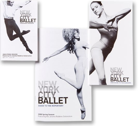 New York City Ballet by Pentagram , via Behance