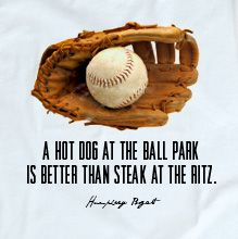True. Though I do like my steak. Nothing compares to being at the ball park!