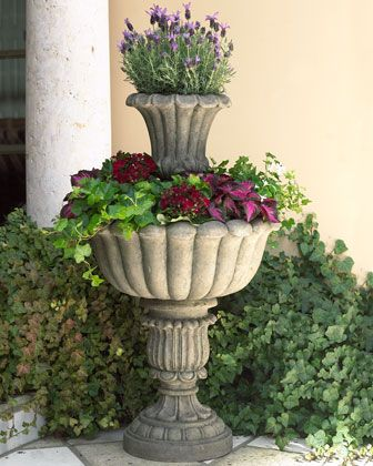 """""""Dusk"""" Tiered Planter at Horchow."""