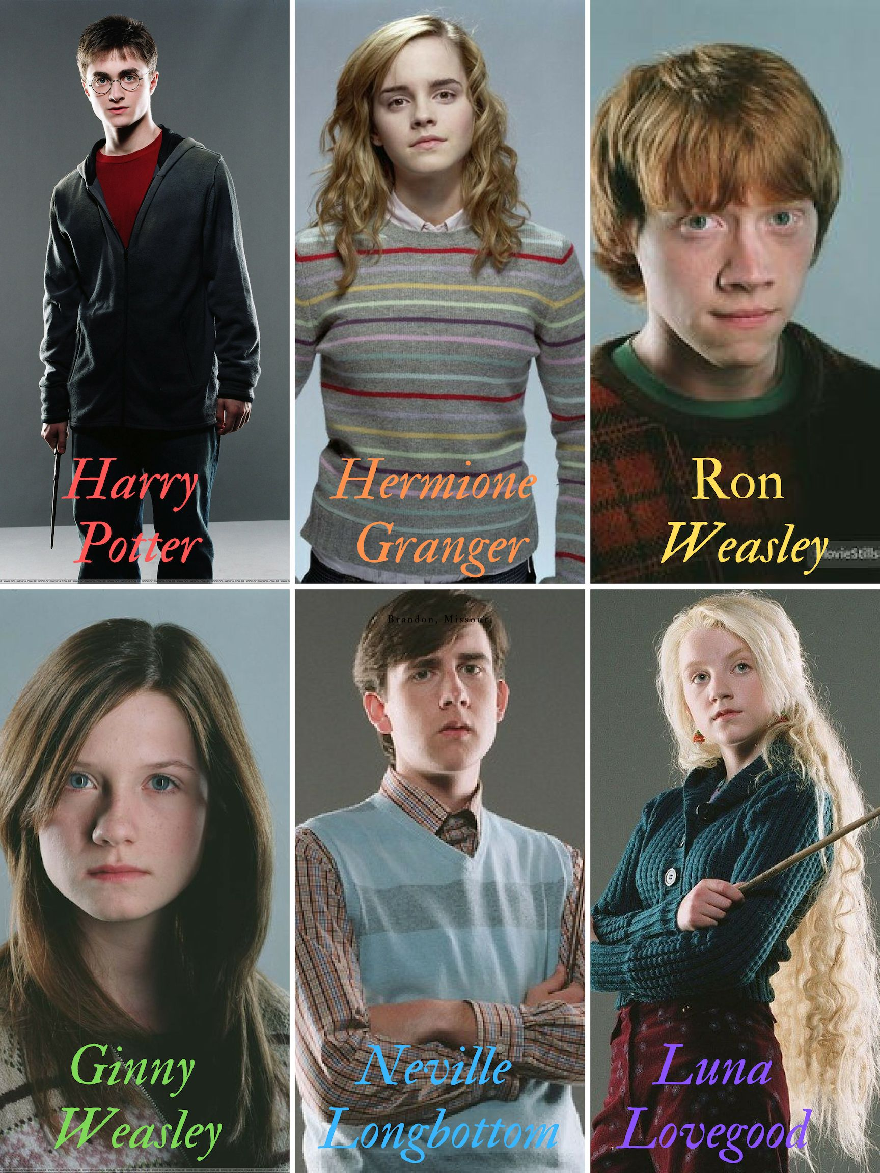 The Golden Trio Harry Hermione Ron And The Silver Trio Ginny Neville Luna Harry Hermione Ron Harry And Hermione Cute Harry Potter