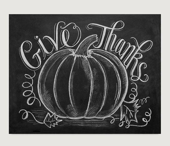Give Thanks Pumpkin Thanksgiving Decor Fall by LilyandVal #thanksgivingdecorations