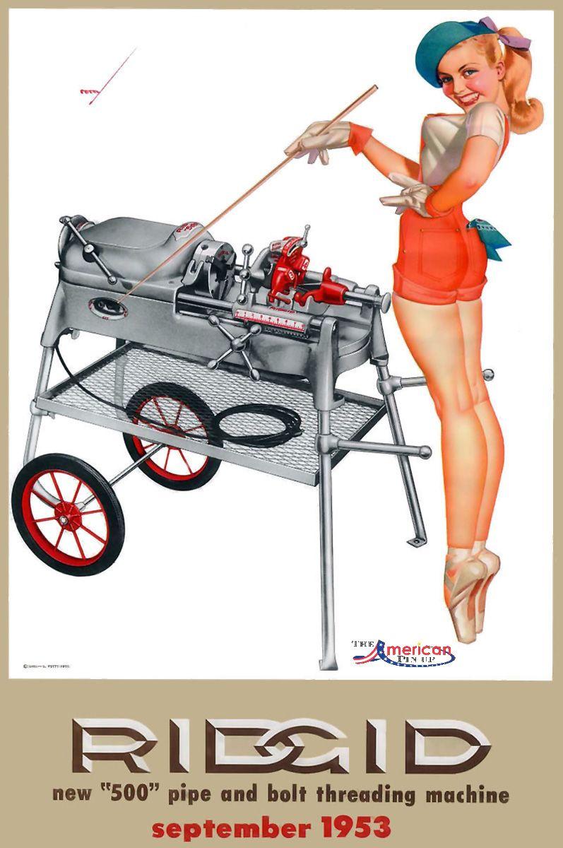 Pin Up Calendar Vintage : George petty september ridgid tools girl