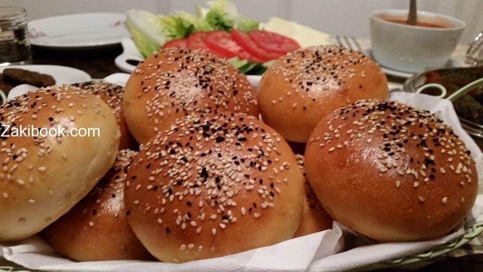 خبز برجر بيتي طيب واكيد اطيب من الجاهز زاكي Food Bread Hamburger Bun