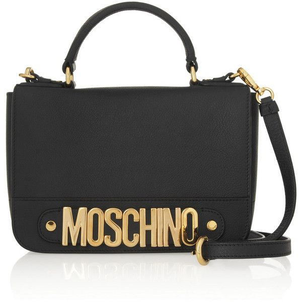 14a54b110c Moschino Textured-leather shoulder bag found on Polyvore | Top Bags ...