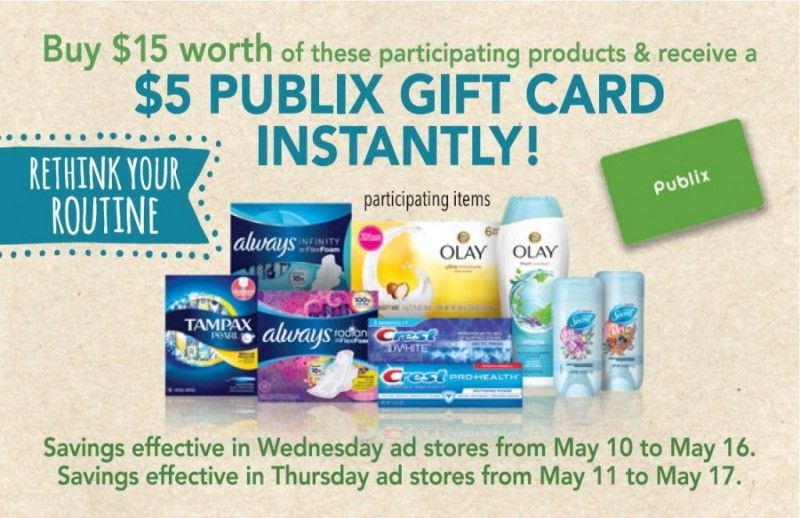 High value deal from publix and procter gamble get 5