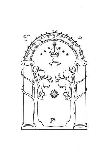 Mines of Moria (Door of Durin) Tatoo Stencil  sc 1 st  Pinterest & Mines of Moria (Door of Durin) Tatoo Stencil | Tattoos: Designs ...