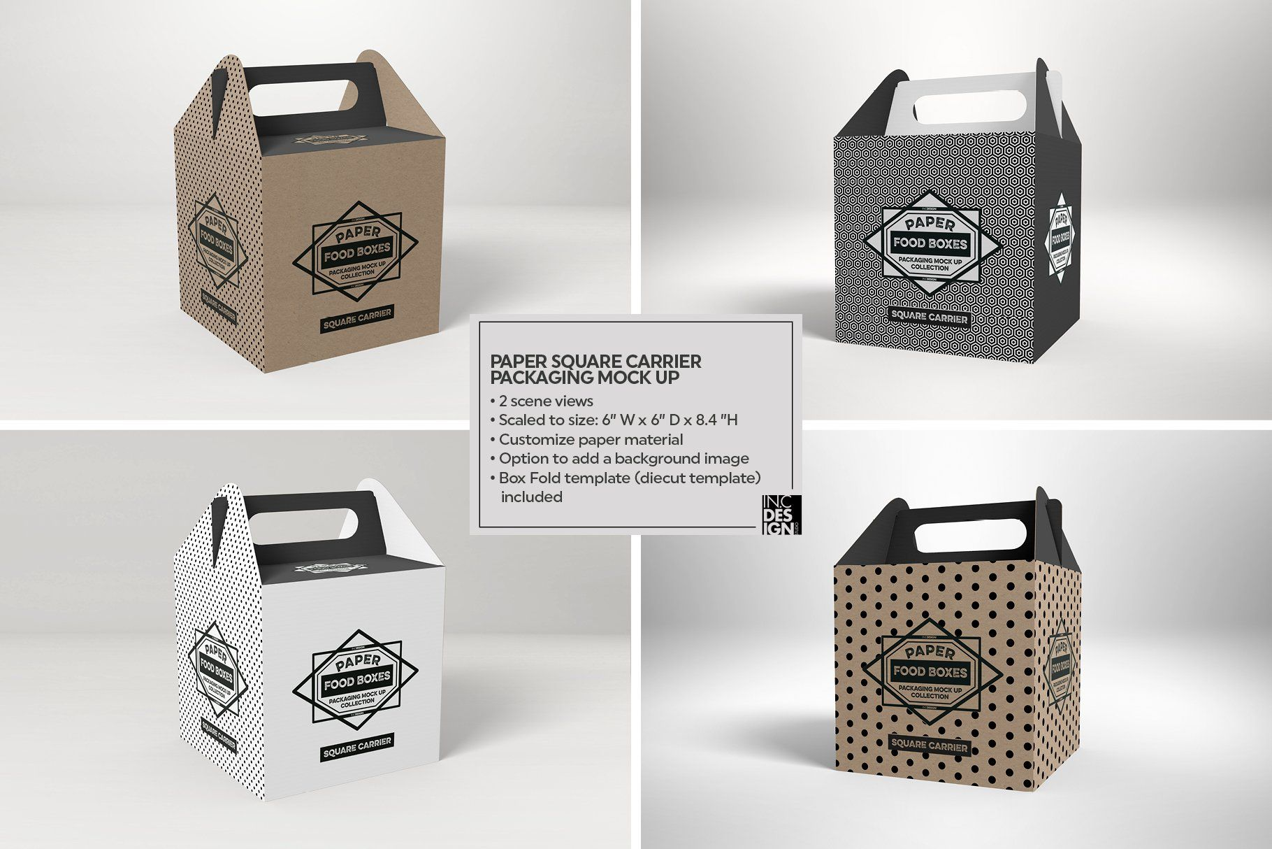 Download VOL.1 Food Box Packaging Mockups #Ad , #ad, #Option#add# ...
