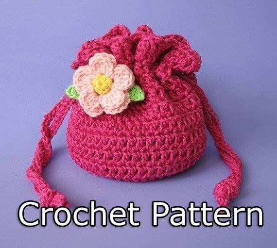 Pdf Crochet Pattern Drawstring Bag Pouch Crochet Pouch