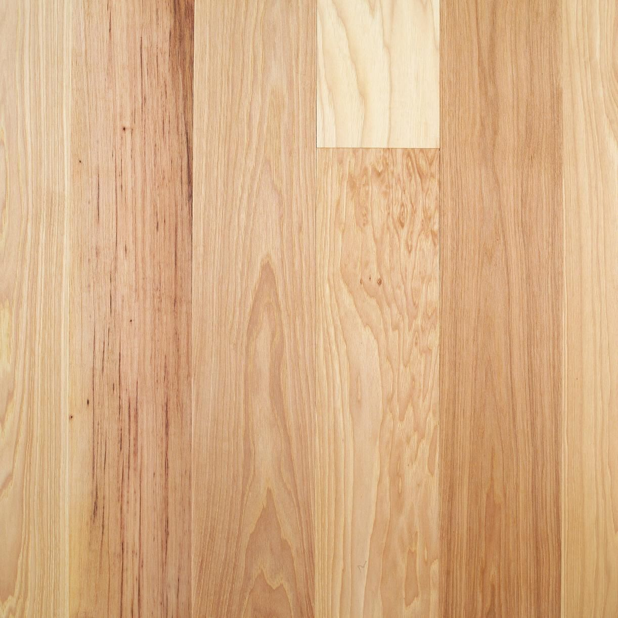 This is what 1st grade hickory flooring will look like for Unstained hardwood floors