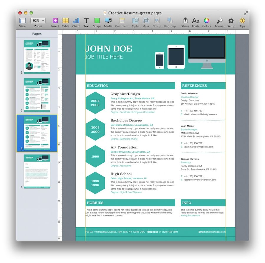 Free Mac Resume Templates Resume Cover Page Template Mac  Httpwwwresumecareer