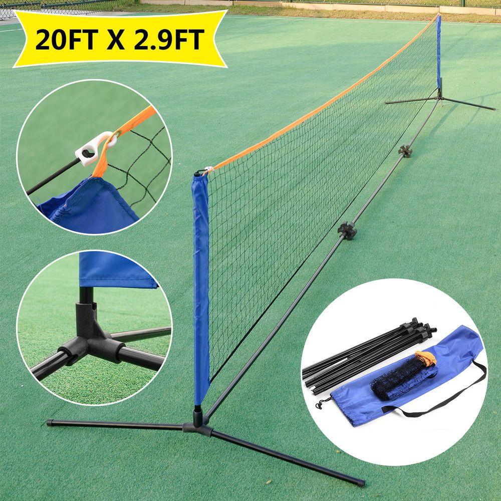 20 Portable Tennis Net Badminton Volleyball Training Indoor Outdoor Carrying Bag Ebay Link Volleyball Training Tennis Nets Fun Sports